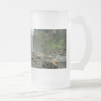 Snoqualmie Falls, Snoqualmie, WA Frosted Glass Beer Mug