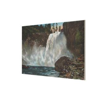 Snoqualmie Falls, WA - View of Falls at Bottom Canvas Print