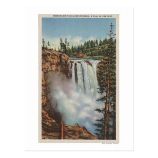 Snoqualmie Falls, WA - View of Falls at Top Post Cards