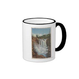 Snoqualmie Falls, WA - View of Falls at Top Ringer Mug