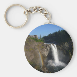 Snoqualmie Falls Washington Basic Round Button Keychain