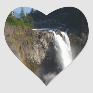 Snoqualmie Falls Washington Heart Sticker