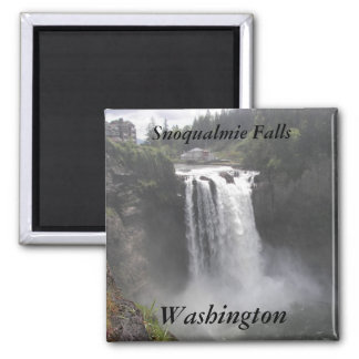 Snoqualmie Falls, Washington Travel Photo 2 Inch Square Magnet