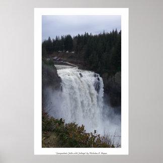 """Snoqualmie Falls with Foliage"" Photo Print"
