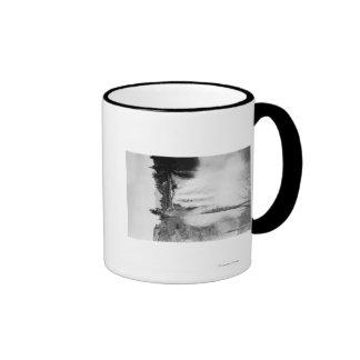 Snoqualmie, WA - Falls and Lodge Photograph Ringer Mug