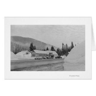 Snoqualmie, WA - fotografía del área del esquí del Tarjeta De Felicitación
