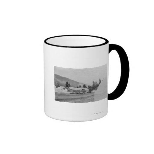 Snoqualmie, WA - Summit Inn Ski Area Photograph Coffee Mugs