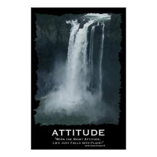 Snoqualmie Waterfall ATTITUDE Motivational Poster
