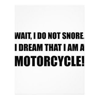 Snore Motorcycle Letterhead