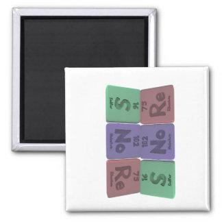 Snore-S-No-Re-Sulfur-Nobelium-Rhenium.png 2 Inch Square Magnet