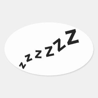 Snore zzz oval sticker