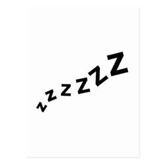 Snore zzz postcard