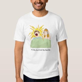 Snoring Husband Cartoon T-shirt
