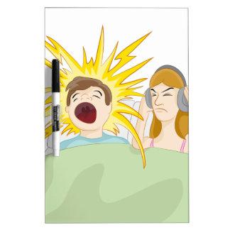 Snoring Husband Dry Erase Board