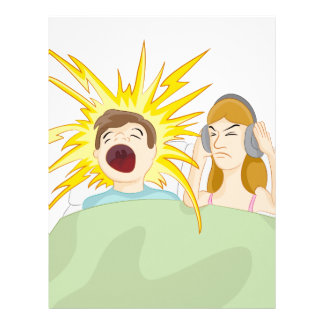 Snoring Husband Letterhead