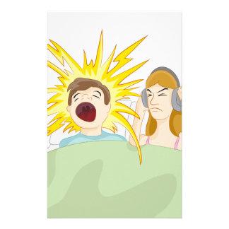 Snoring Husband Stationery