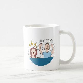 Snoring Wife Cartoon Coffee Mug