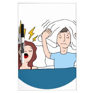 Snoring Wife Cartoon Dry-Erase Board