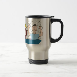 Snoring Wife Cartoon Travel Mug