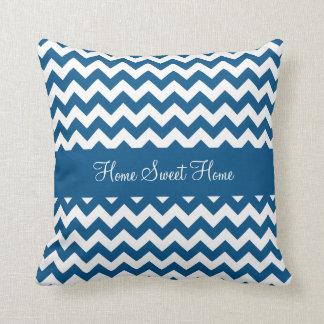 Snorkel Blue Chevron Throw Pillow