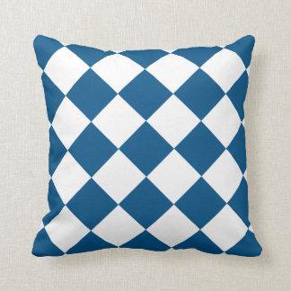 Snorkel Blue Diamond Pattern Throw Pillow
