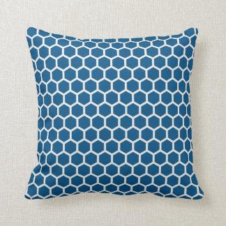 Snorkel Blue Honeycomb Pillow