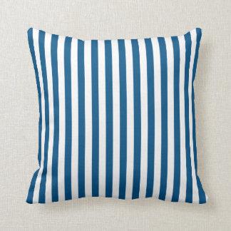 Snorkel Blue Stripe Throw Pillow