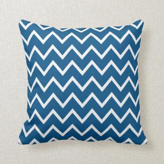 Snorkel Blue & White Chevron Throw Pillow