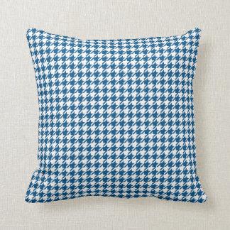 Snorkel Blue & White Houndstooth Throw Pillow