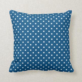 Snorkel Blue & White Polka Dot Throw Pillow