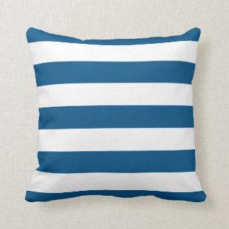 Snorkel Blue & White Striped Throw Pillow