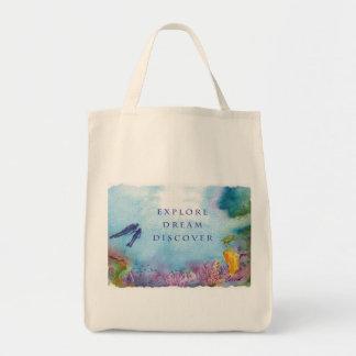 Snorkel Couple Canvas Tote Bag