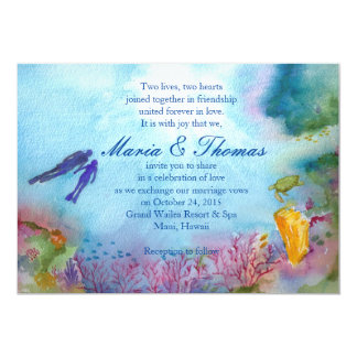 Snorkel Couple Invitation