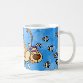 snorkel doggy coffee mug