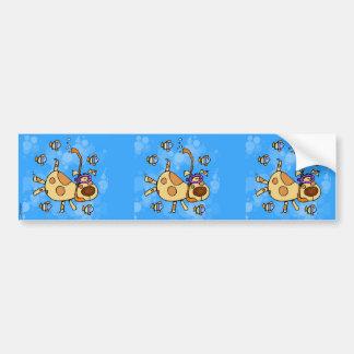 snorkel doggy scrapbook sticker
