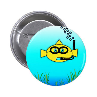 Snorkel Fish Pinback Button