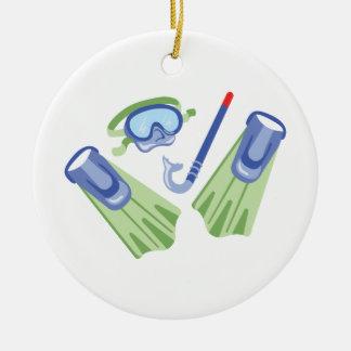 Snorkel & Flippers Ceramic Ornament