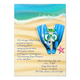 Snorkel Gear Beach Party Invitation