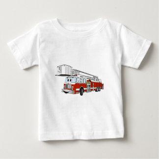 Snorkel Hook and Ladder Fire Truck Cartoon Baby T-Shirt