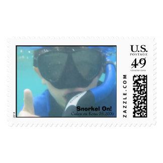 Snorkel On Postage Stamp