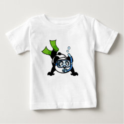 Baby Fine Jersey T-Shirt with Snorkeling Panda design