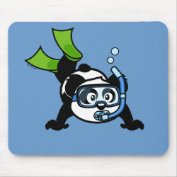Mousepad with Snorkeling Panda design