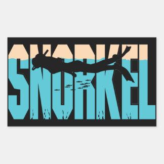 Snorkel Rectangular Sticker