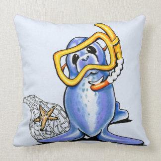 Snorkel Seal Throw Pillow