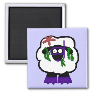 Snorkel Sheep Magnet