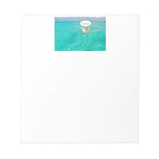 Snorkel Swimming Pig Customize Text Notepad