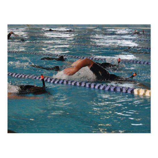 Snorkel Swimming Postcard