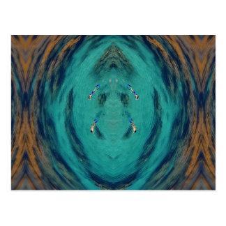 Snorkel swirl postcard