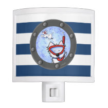 Snorkel Westie Nautical KiniArt Night Light