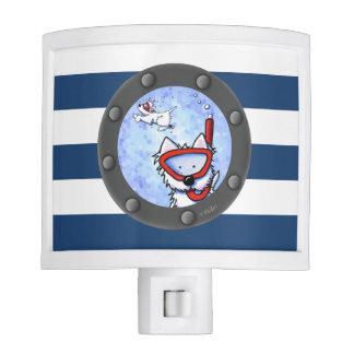 Snorkel Westie Nautical KiniArt Night Light